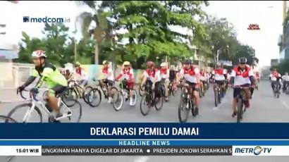 Polda Sumut Ajak Masyarakat Bersepeda untuk Deklarasi Pemilu Damai