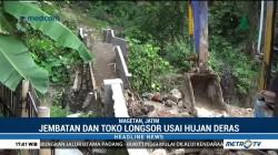 Jembatan dan Toko di Magetan Diterjang Longsor Usai Hujan Deras