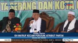 Ma'ruf Amin Minta Perusakan APK Partai Demokrat Diusut
