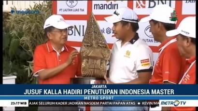 JK Hadiri Penutupan Turnamen Golf Indonesian Masters 2018