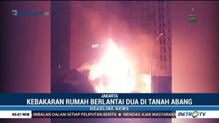 Kebakaran Rumah di KS Tubun Palmerah Diduga Akibat  Korsleting