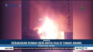 Kebakaran Rumah di KS Tubun Palmerah Diduga Akibat  Korsleting Listrik