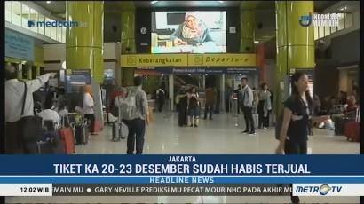 Jelang Natal, Tiket KA dari Jakarta Habis Terjual