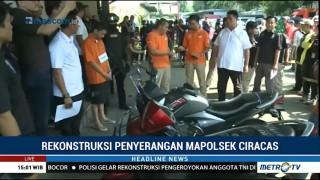 20 Adegan Diperagakan dalam Rekonstruksi Penyerangan Mapolsek Ciracas