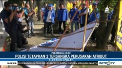 Polda Riau Tetapkan 3 Tersangka Perusakan Atribut Partai Demokrat