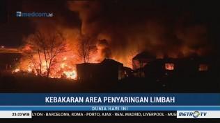 Kebakaran Area Penyaringan Limbah di Polandia