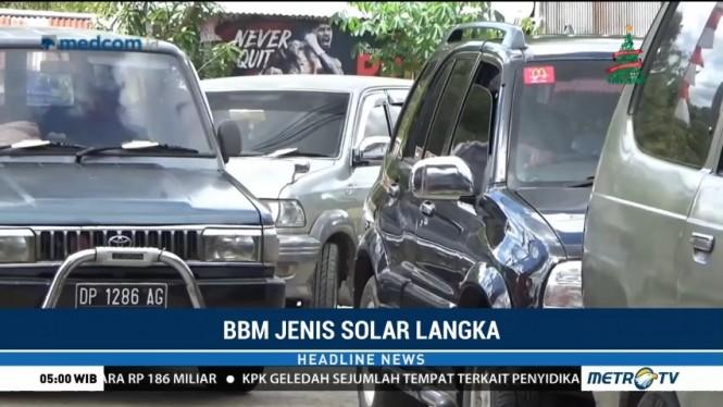 Solar Langka, Antrean Panjang Kendaraan Terjadi di SPBU Bua