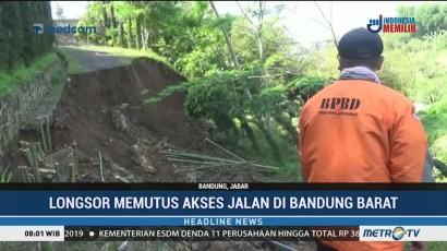 Akses Jalan di Bandung Barat Terputus Akibat Longsor