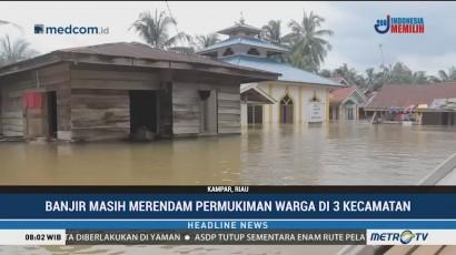 Banjir Masih Merendam Pemukiman Warga di Kampar Riau