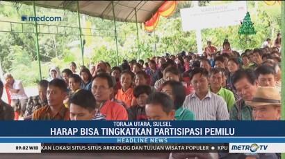 Warga Toraja Utara Antusias Ikuti Sosialisasi Pemilu 2019