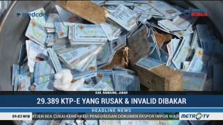 Disdukcapil Bandung Bakar Ribuan KTP-el Rusak