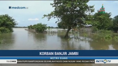 Ratusan Rumah di Jambi Terendam Akibat Luapan Sungai Batanghari