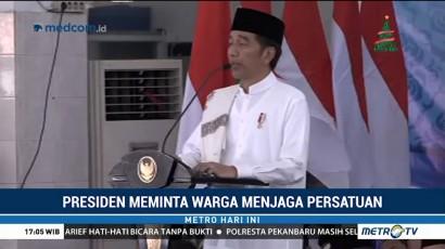 Jokowi Minta Warga Jaga Persatuan di Tengah Pesta Demokrasi