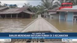 Ratusan Rumah di Kampar Terendam Banjir