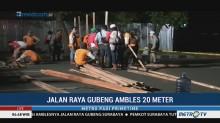 Jalan Raya Gubeng Surabaya Ambles, Pagar Pembatas Sudah Dipasang