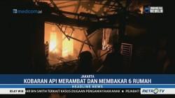 Korsleting Listrik, Enam Rumah Warga di Cipinang Ludes Terbakar