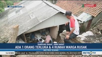 Empat Rumah Warga di Bandung Barat Rusak Akibat Longsor