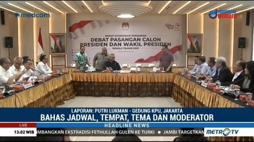 KPU Gelar Rapat Koordinasi Persiapan Debat Pilpres 2019