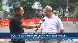 Polisi Masih Selidiki Penyebab Amblesnya Jalan Raya Gubeng