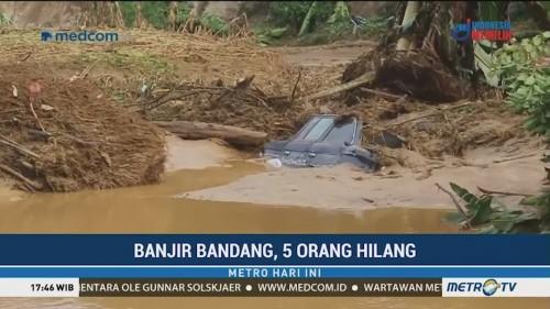 Banjir Bandang di Dairi, 5 Warga Hilang