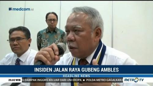 Jalan Gubeng Ambles, Menteri PUPR: Harus Ada yang Bertanggung