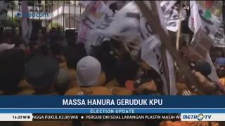 Massa Hanura Geruduk KPU