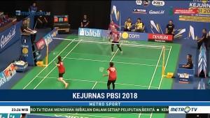 Dua Tim Unggulan Lolos ke Semifinal Kejurnas PBSI 2018