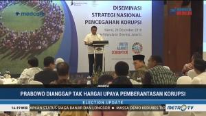 Prabowo Dinilai Tak Hargai Upaya Pemerintah Memberantas Korupsi