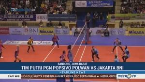 PGN Popsivo Polwan Menang 3-0 atas Jakarta BNI