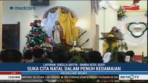 Misa Natal di GKHK Banda Aceh Berlangsung Khidmat