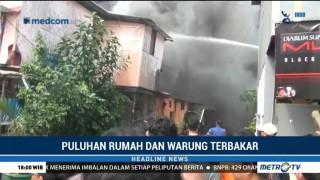 Korsleting Listrik, Kawasan Padat Penduduk di Kemayoran Terbakar