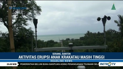 Aktivitas Erupsi Anak Krakatau Masih Tinggi
