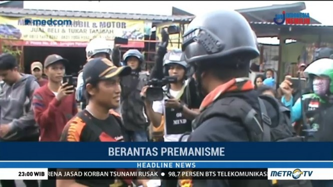 Polisi Bubarkan Ormas yang Tutup Jembatan Pitara Depok