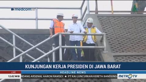 Jokowi Tinjau Proyek Bendungan Sukamahi Bogor