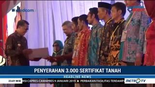 Pemprov Sulsel Bagikan 3.000 Sertifikat Tanah untuk Rakyat