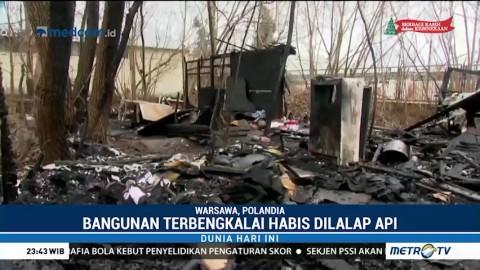 Bangunan Terbengkalai di Polandia Ludes Terbakar