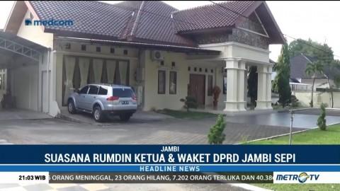 Jadi Tersangka, Rumah Ketua dan Wakil Ketua DPRD Jambi Sepi
