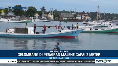 Gelombang Tinggi, Nelayan di Majene Enggan Melaut