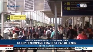 18 Ribu Penumpang Tiba di Stasiun Senen