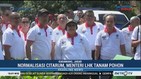 Menteri LHK Tanam Pohon Simbol Normalisasi Sungai Citarum