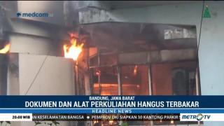 Gedung Studi Pembangunan di Kampus ITB Terbakar