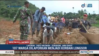 Satu Korban Longsor Sukabumi Ditemukan Terhimpit Lemari