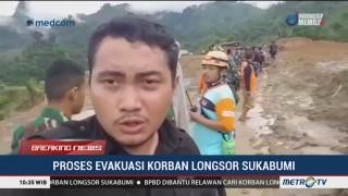 Suara Gemuruh Terdengar Saat Evakuasi Korban Longsor di Sukabumi