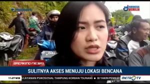 Sulitnya Akses Menuju Lokasi Bencana Longsor di Sukabumi