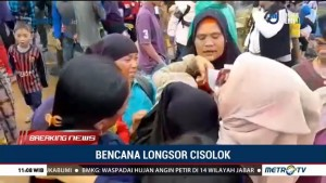 Anggota Keluarga Belum Ditemukan, Warga Sukabumi Menangis Pascalongsor