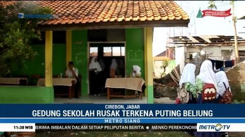 Puting Beliung, Sejumlah Sekolah di Cirebon yang Rusak Belum Diperbaiki