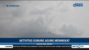 Aktivitas Gunung Agung Meningkat, Muncul Asap Tipis Membumbung Tinggi