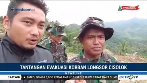Tantangan Evakuasi Korban Longsor Cisolok Sukabumi