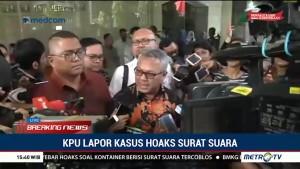 Relawan Jokowi-Ma'ruf Laporkan 3 Orang Terkait Hoaks Surat Suara