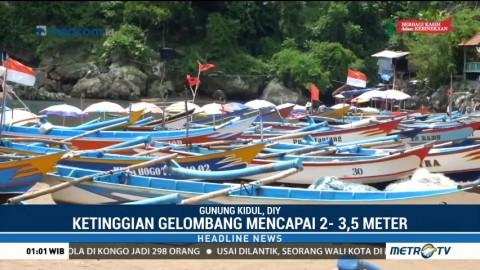Cuaca Buruk, Nelayan di Gunungkidul Pilih tak Melaut